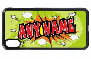 Personalised Retro Green Comic Book Kapow Boys (Any Name) Design Mobile Phone Case To Fit iPhone